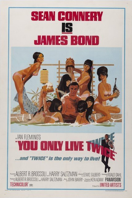 "You Only Live Twice U.S One Sheet 27""x41"""