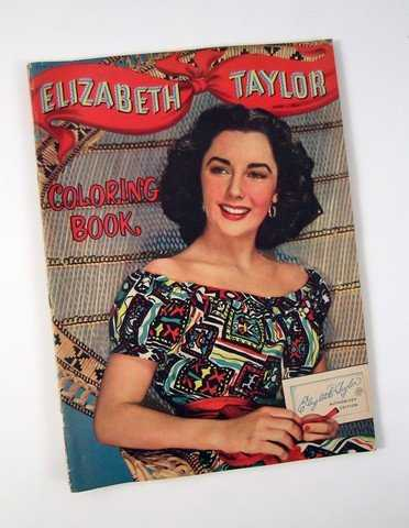 Elizabeth Taylor 1952 Whitman Coloring Book