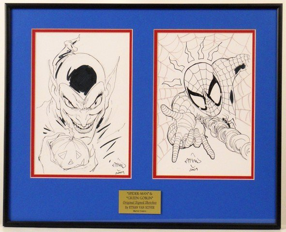 Spiderman/Green Lantern Ethan Sciver Signed Original