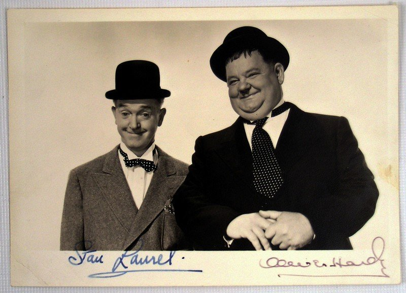 Laurel & Hardy Signed Photo