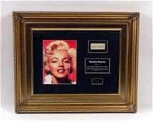 Marilyn Monroe's Original Hair In Display Case