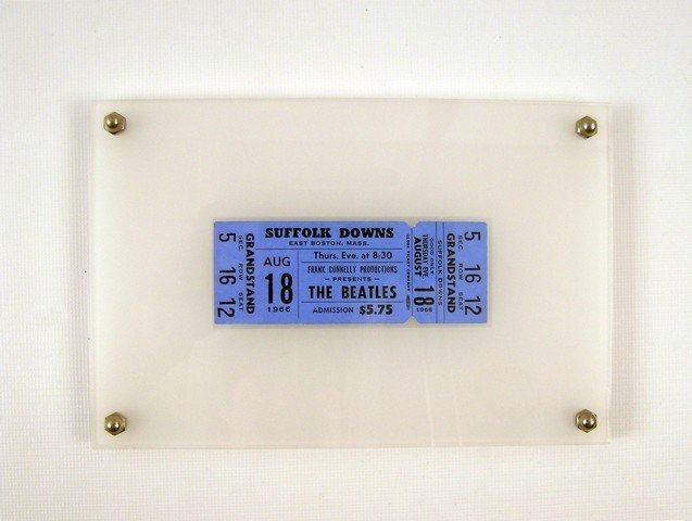 Beatles Unused Ticket for Suffolk Down Live Concert