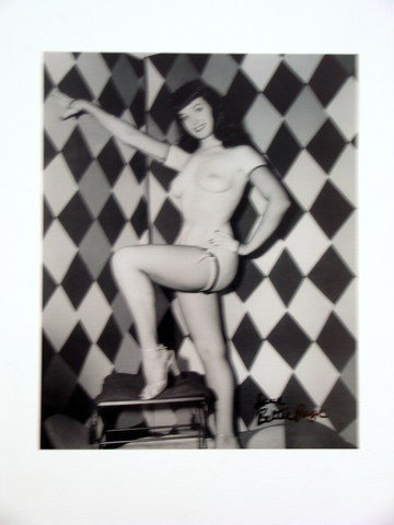 Bettie Page Autographed Photo