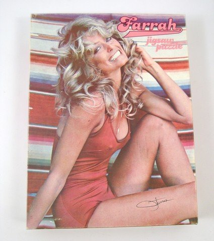 Farrah Fawcett Original Bathing Suit Jigsaw Puzzle