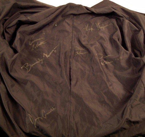 Hugh Hefner Signed Red Velvet Smoking Jacket - 2