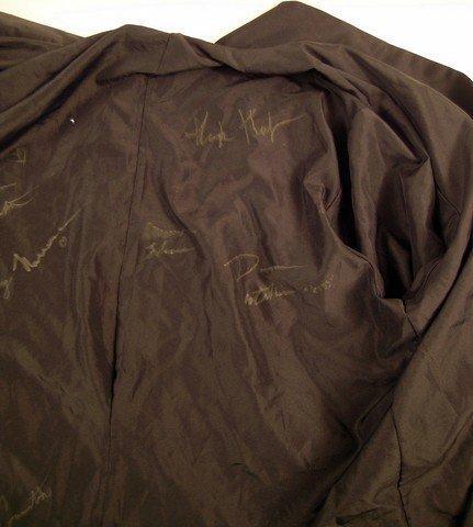 Hugh Hefner Signed Red Velvet Smoking Jacket - 3