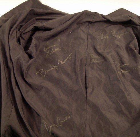Hugh Hefner Signed Red Velvet Smoking Jacket - 4