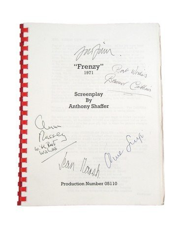 Hitchcock's Frenzy Production Script With Cast
