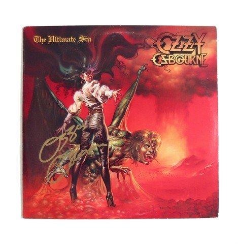 Ozzy Osbourne Signed Ultimate Sin Album