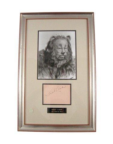 Wizard Of Oz Cowardly Lion (Bert Lahr) Autographed