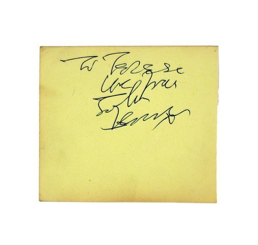 John Lennon Autograph From 11/20/1963 Beatles Concert