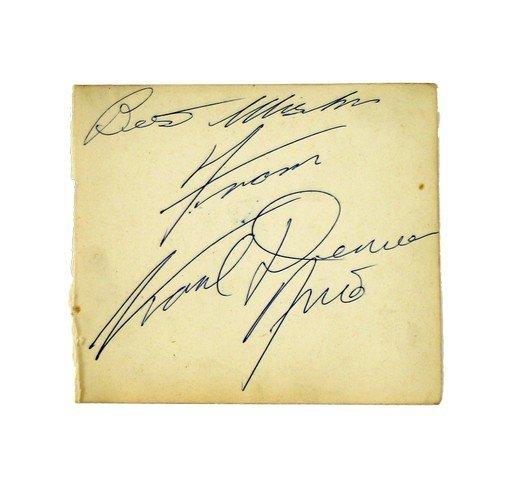 Karl Denver Autograph