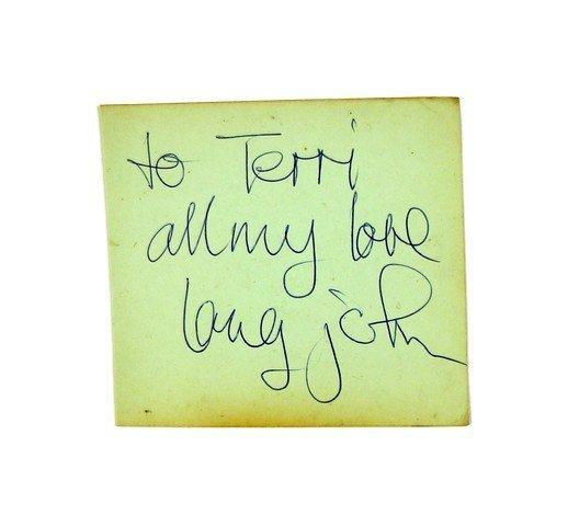 Long John Baldry Autograph