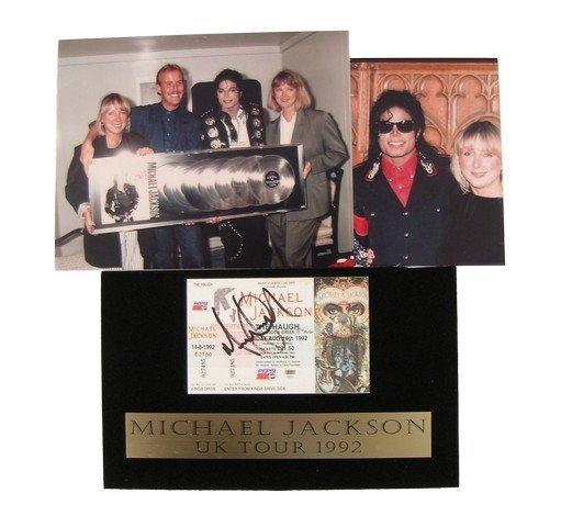 Michael Jackson Autographed Dangerous Concert Ticket