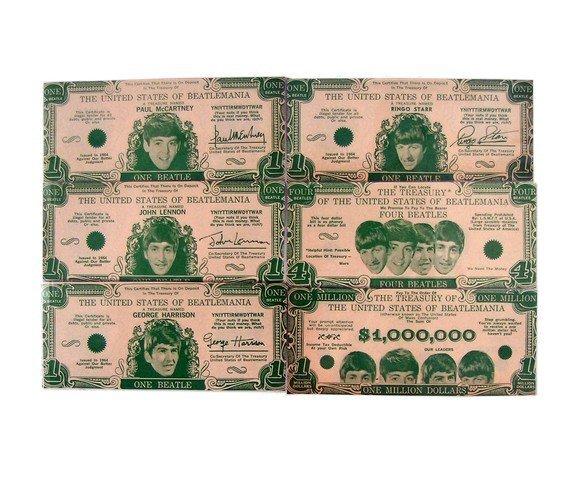 Beatles Money Complete Set Of Original 1964 Currency