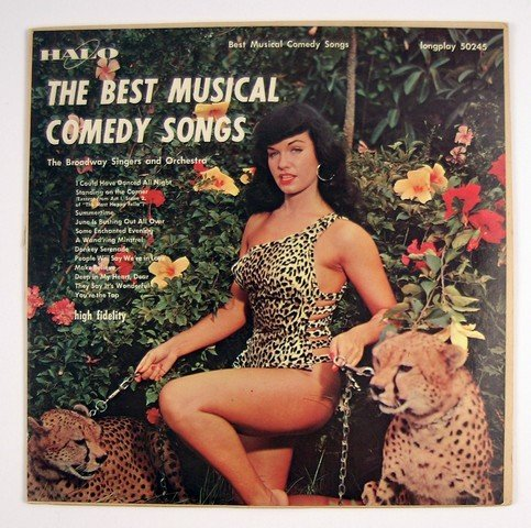 Bettie Page 1957 Nude Cheetah Album Cover