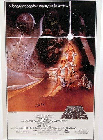Cast Autographed Star Wars IV: A New Hope One Sheet