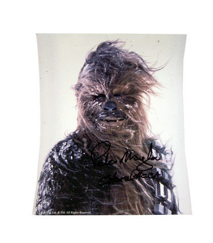 Star Wars Chewbacca Peter Mayhew Autographed Photo