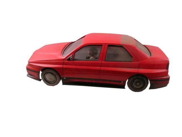 Daylight (1996) Red Miniature Model Car Movie Props