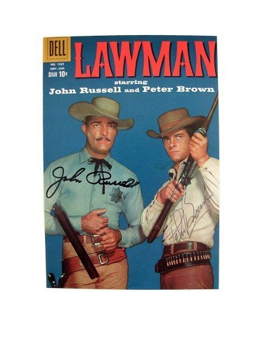 Lawman John Russell and Peter Brown Autographed