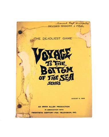 Voyage To The Bottom Of The Sea 1965 Shooting Script