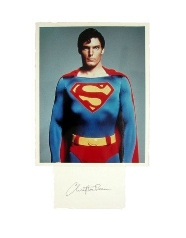 Christopher Reeve Autographed Photo Movie Memorabilia