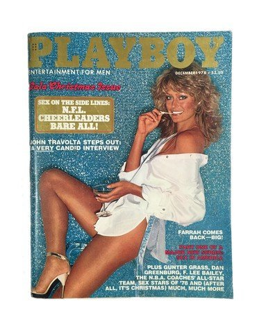Farrah Fawcett Playboy Christmas December 1978