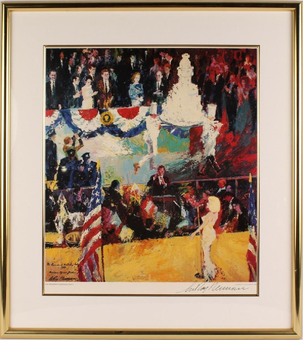 LEROY NEWMAN PRESIDENTS BIRTHDAY SIGNED LITHOGRAPH
