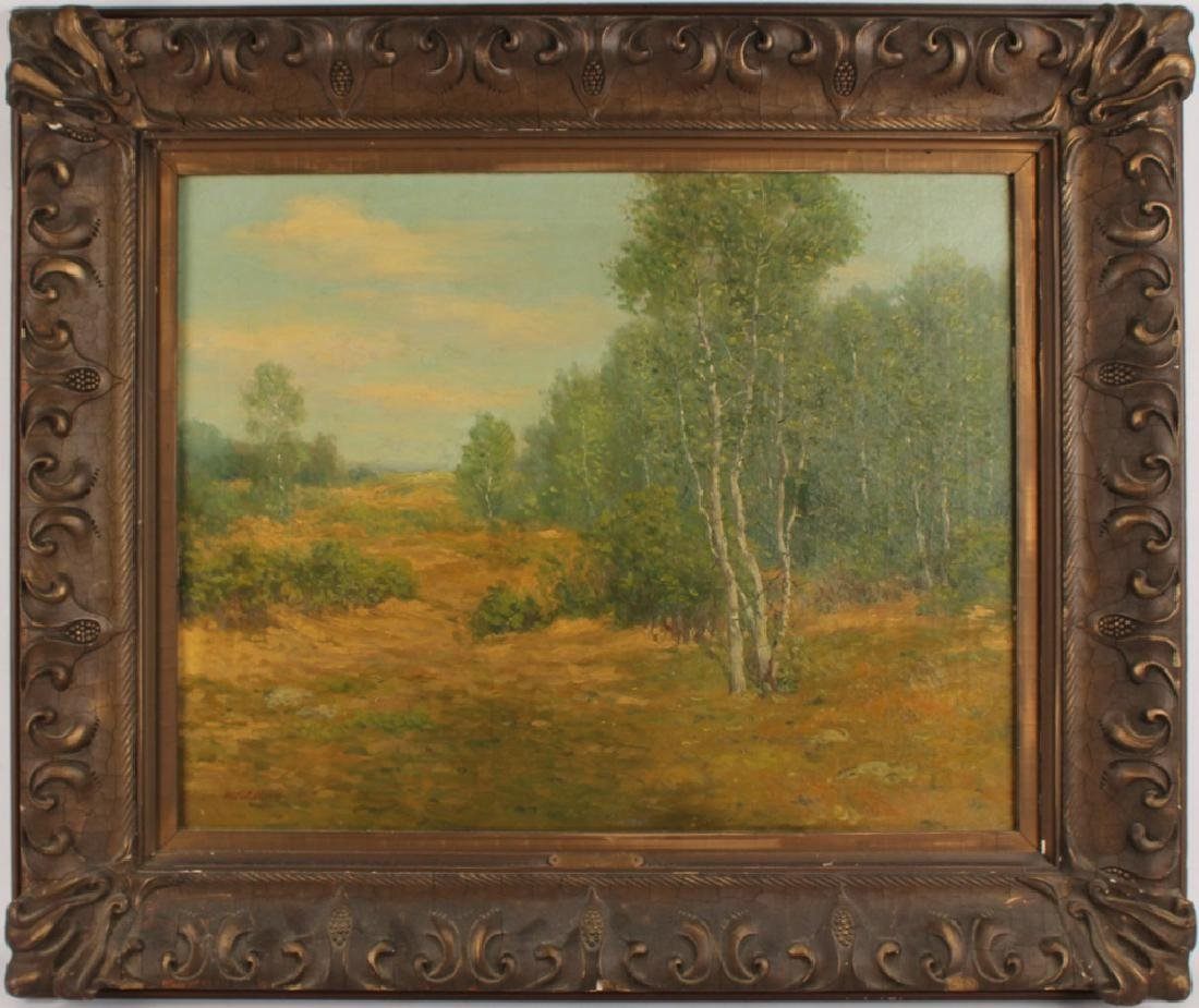 WILLIAM RC WOOD LENGTHENING SHADOWS OIL ON CANVAS