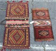 2 AFGHAN WOOL SADDLE BAGS