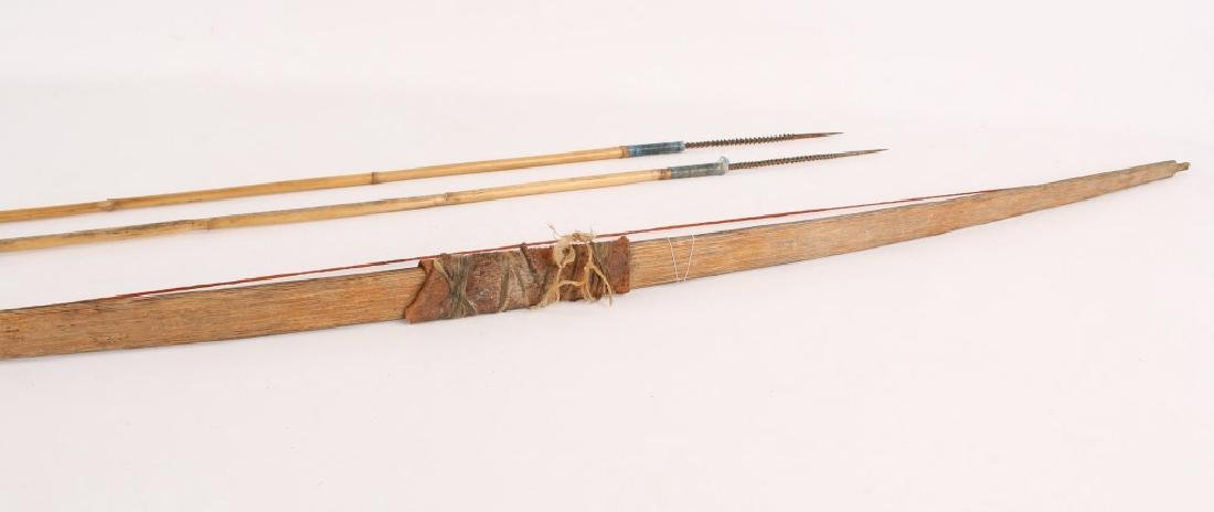 AFRICAN SHORT BOW AND ARROW SET - 4