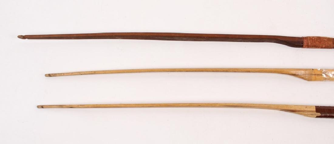 3 LARGE WOODEN LONG BOWS - 2