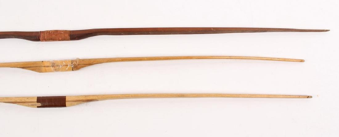 3 LARGE WOODEN LONG BOWS - 3