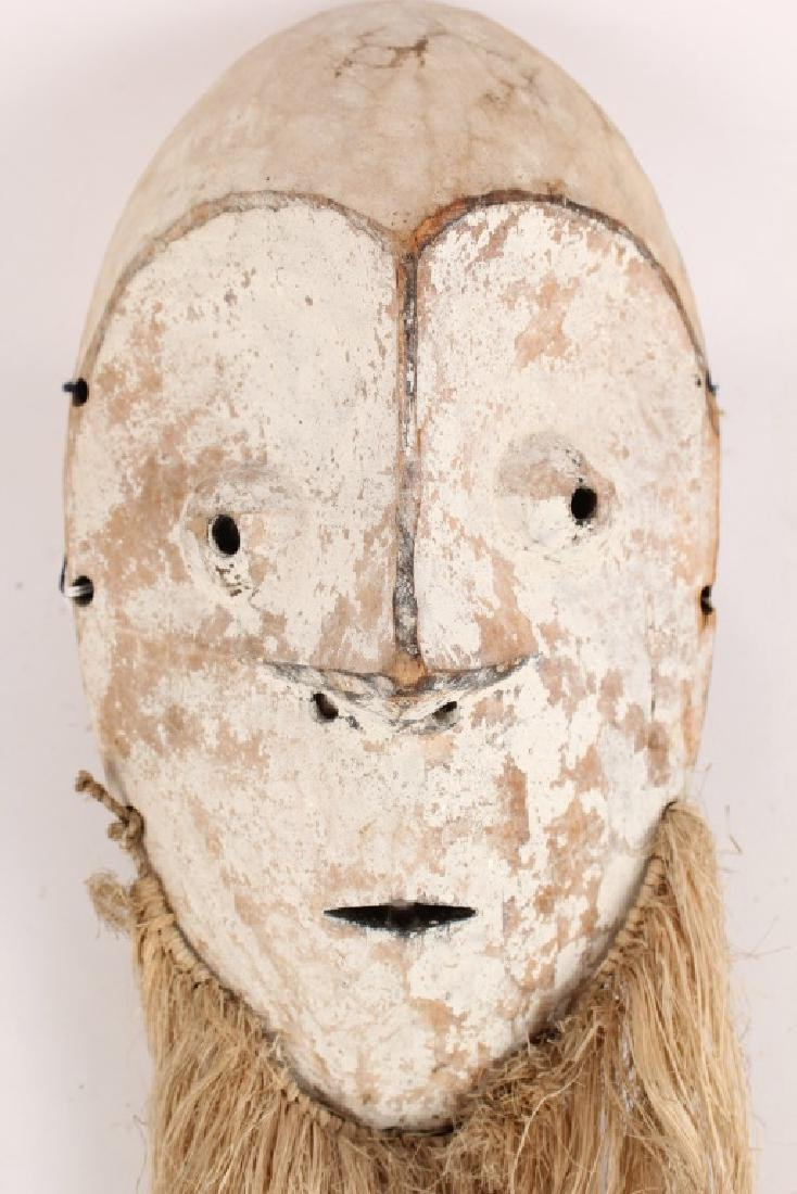 AFRICAN FANG TRIBAL WOODEN MASK - 2