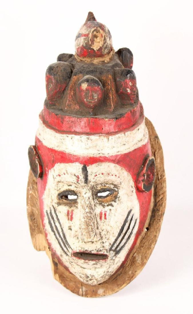 AFRICAN NIGERIAN CARVED WOOD MASK