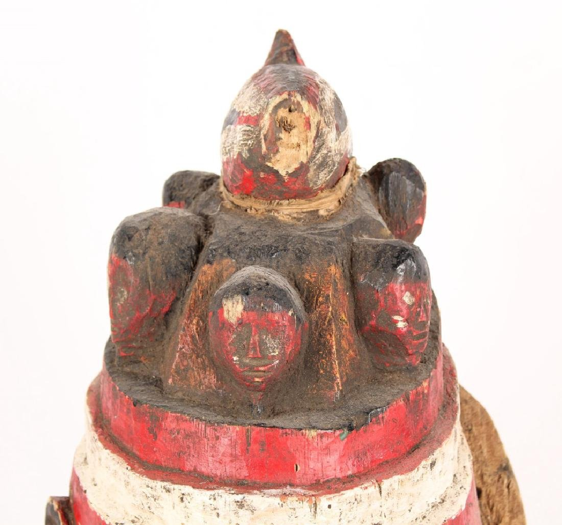 AFRICAN NIGERIAN CARVED WOOD MASK - 2