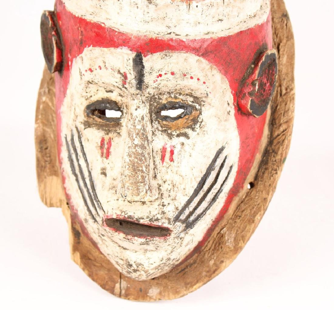 AFRICAN NIGERIAN CARVED WOOD MASK - 3
