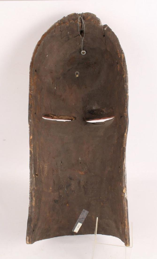 AFRICAN SONGYE TRIBE KIFWEBE WOODEN PAINTED MASK - 2