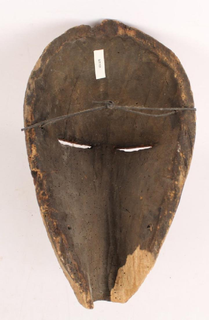 AFRICAN SONGYE TRIBE KIFWEBE WOODEN PAINTED MASK - 2