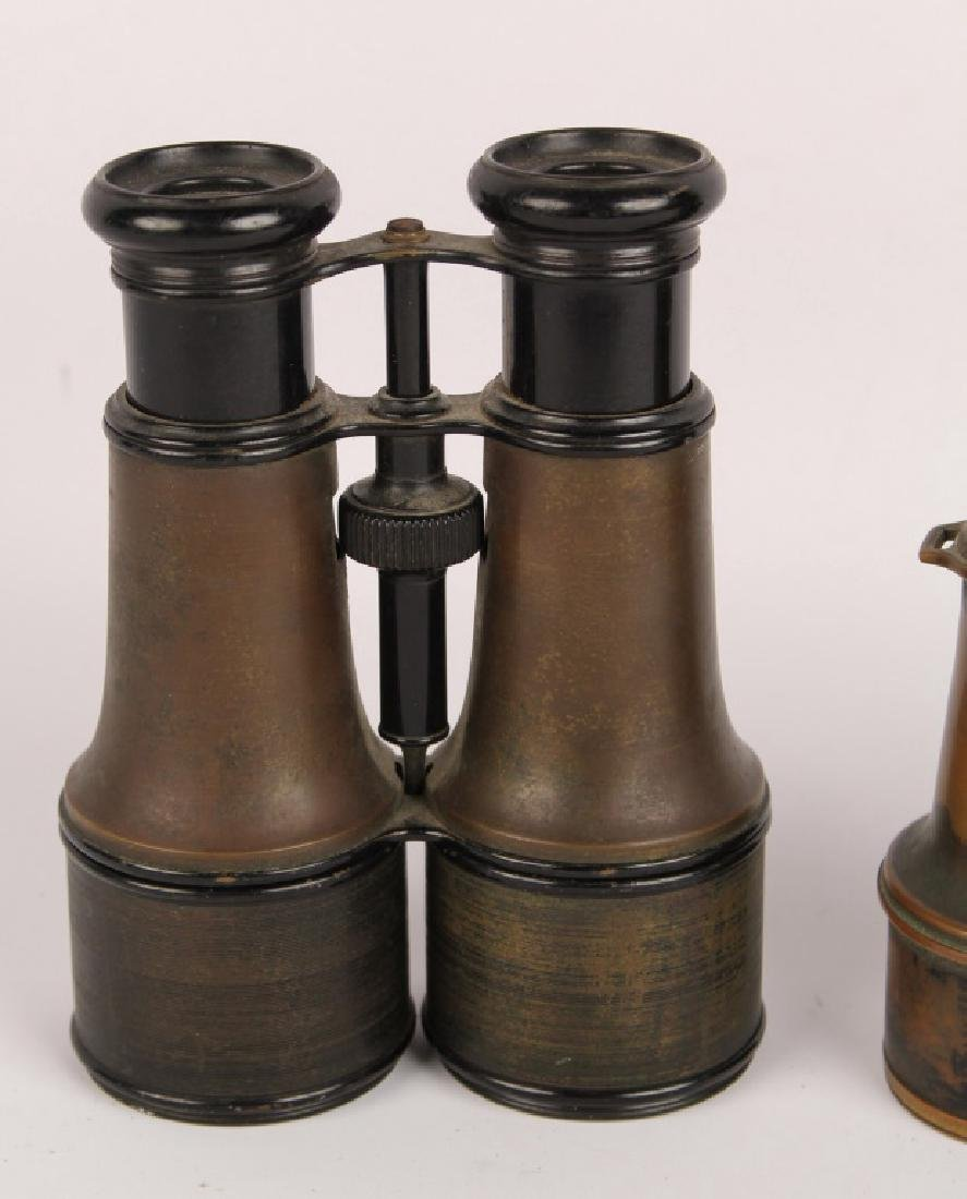 2 PAIRS OF BRASS BINOCULARS L. PETIT FABT FRENCH - 2