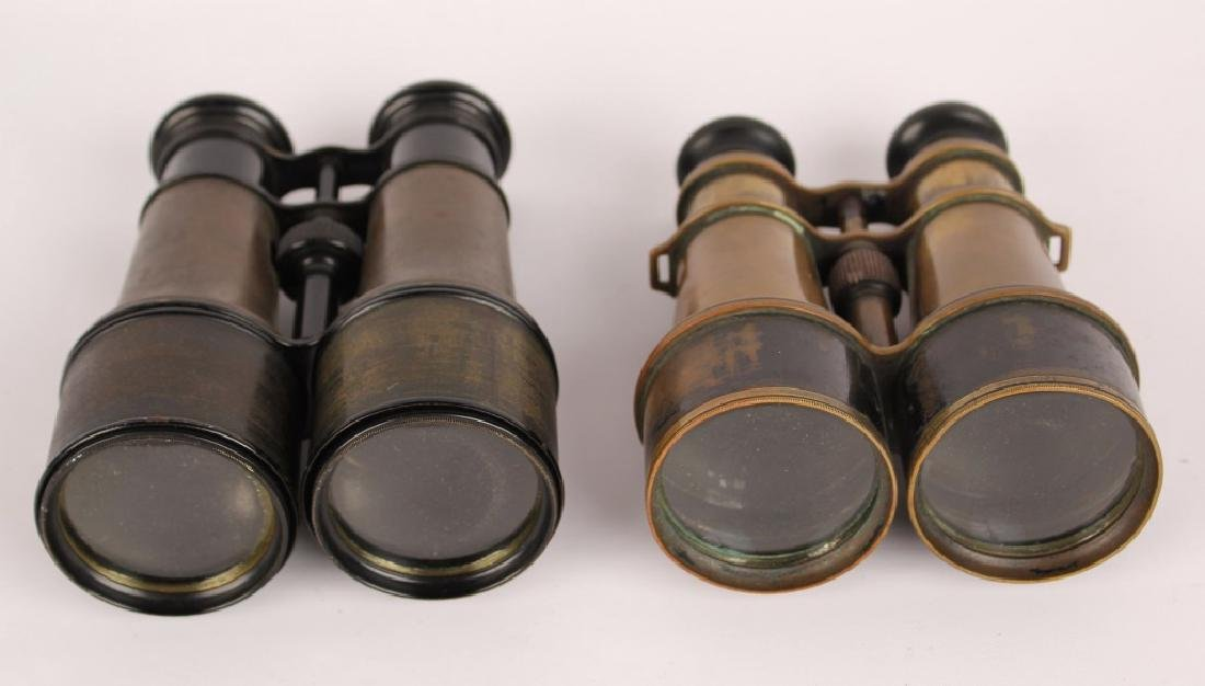 2 PAIRS OF BRASS BINOCULARS L. PETIT FABT FRENCH - 4