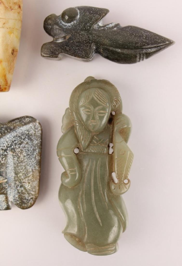 5 CARVED SOFTSTONE PIECES - 2