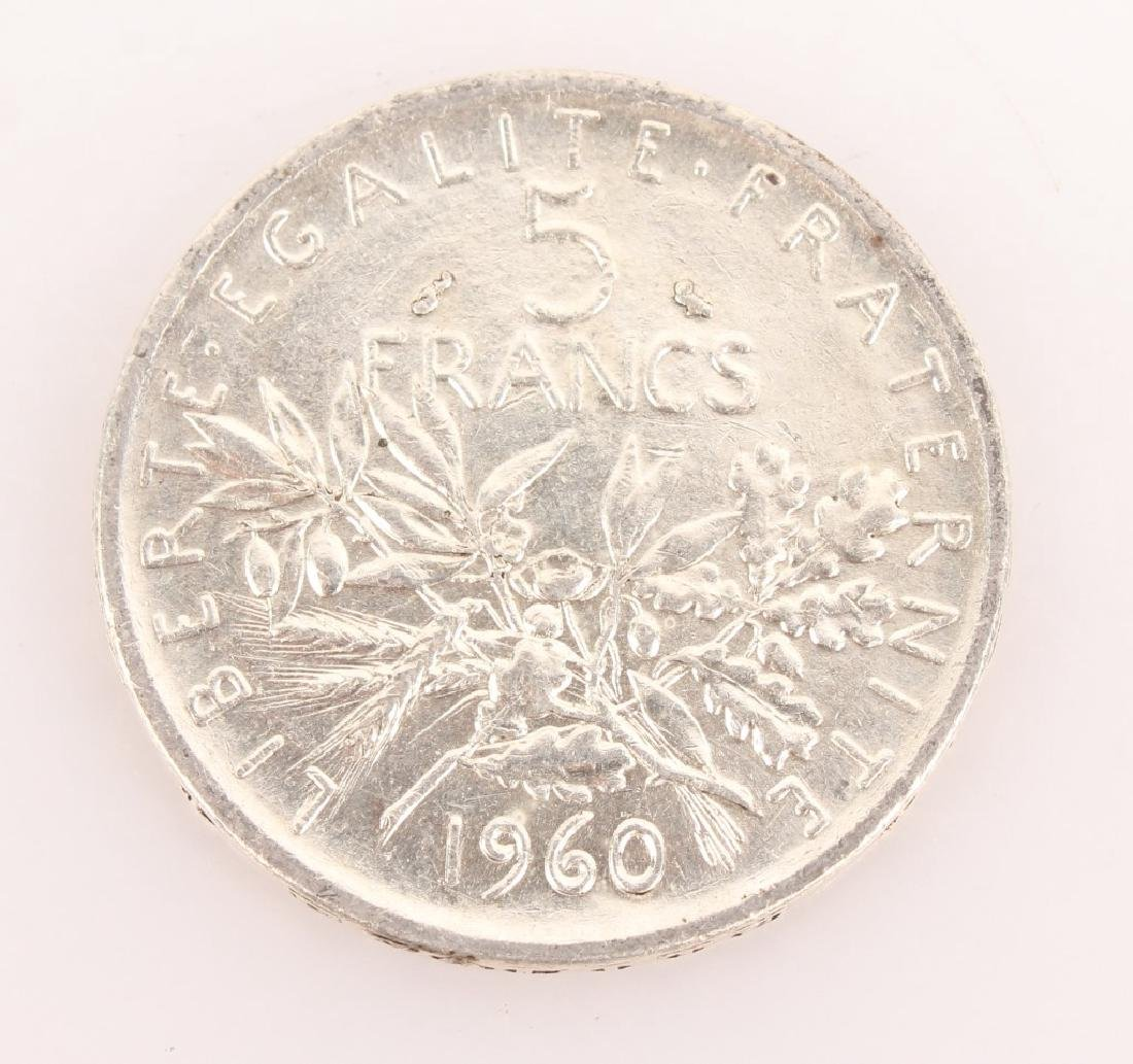 18 COIN LOT SILVER FRENCH 5 FRANCS 1960-1965 - 3