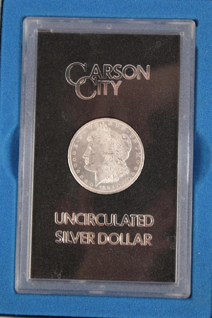 1882 CC CARSON CITY GSA MORGAN SILVER DOLLAR COIN