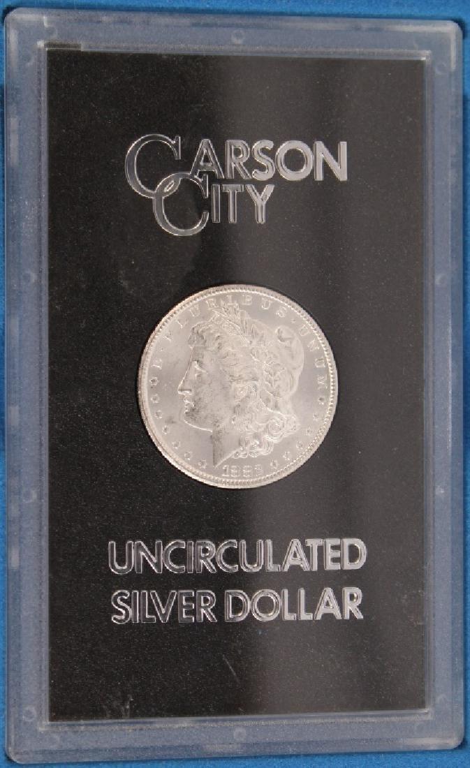 1882 CC CARSON CITY GSA MORGAN SILVER DOLLAR COIN - 2