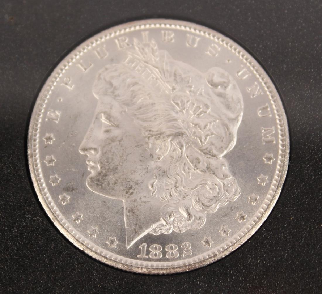 1882 CC CARSON CITY GSA MORGAN SILVER DOLLAR COIN - 3