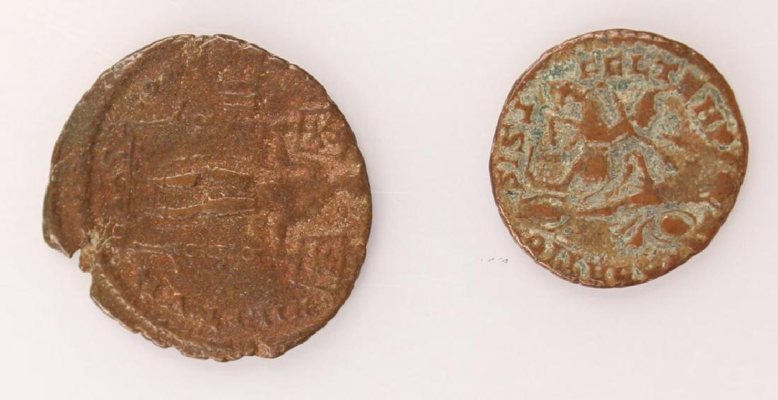 10 MIXED ANCIENT GREEK & ROMAN COPPER COINS - 12