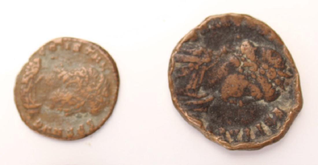 10 MIXED ANCIENT GREEK & ROMAN COPPER COINS - 2