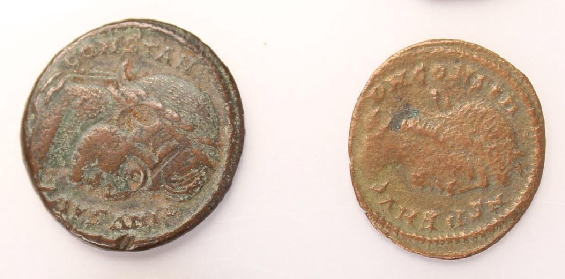 10 MIXED ANCIENT GREEK & ROMAN COPPER COINS - 3