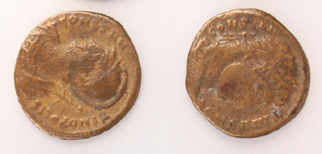 10 MIXED ANCIENT GREEK & ROMAN COPPER COINS - 5